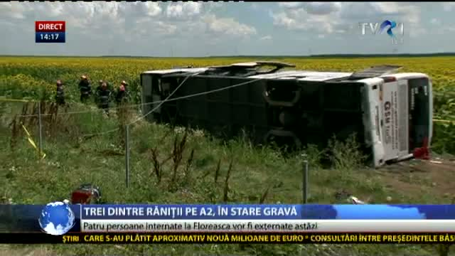 Stare răniți accident pe A2