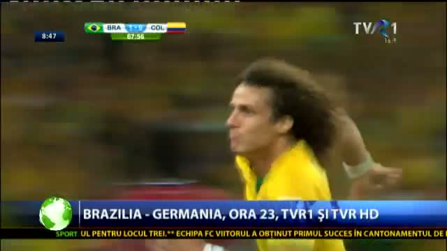 Brazilia - Germania, în direct la TVR