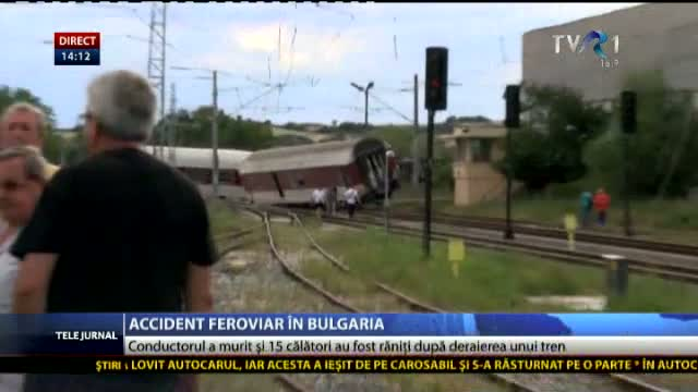 Accident feroviar în Bulgaria