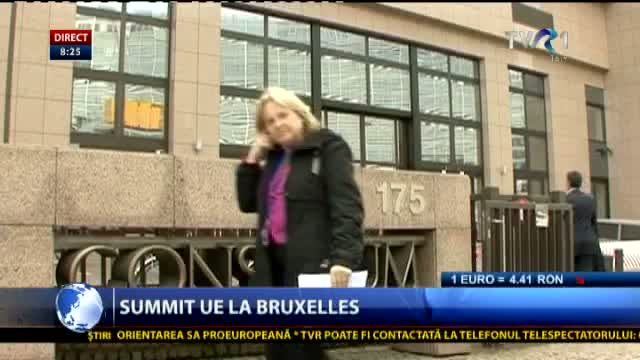 Summit UE la Bruxelles
