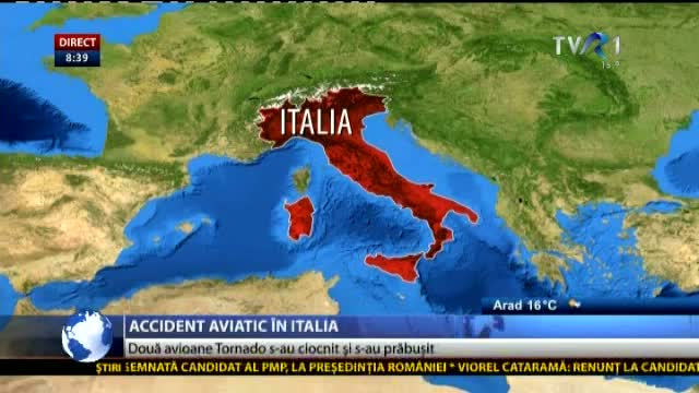 Accident aviatic în Italia
