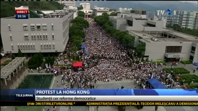 Protest la Hong Kong