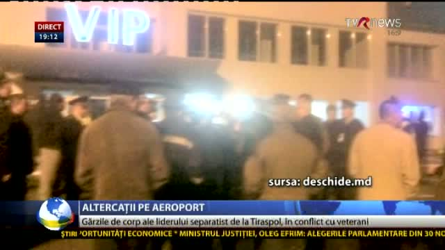 Altercație pe aeroport