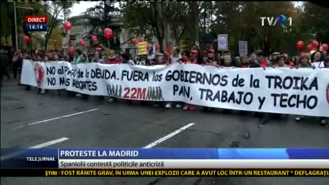 Proteste la Madrid