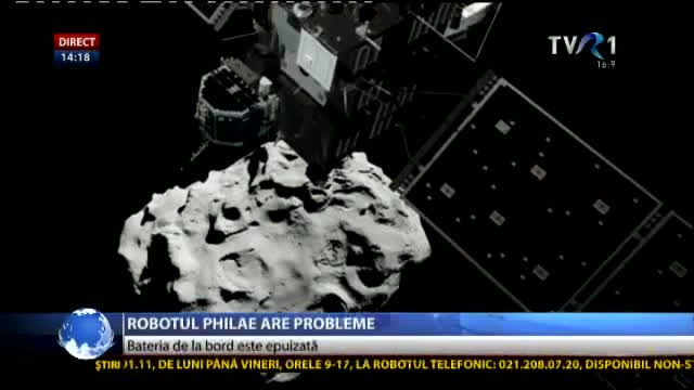 Robotul Philae are probleme