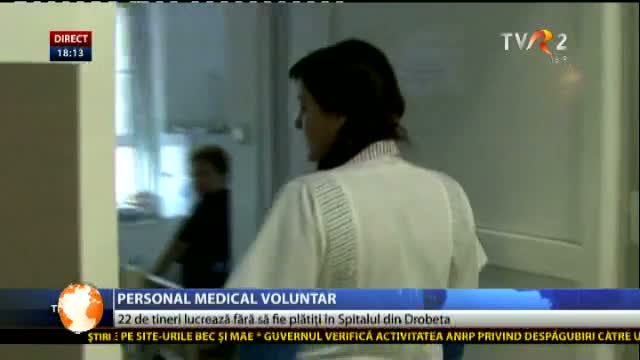 Personal medical voluntar la Drobeta