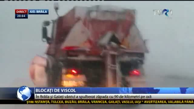 Blocați de viscol