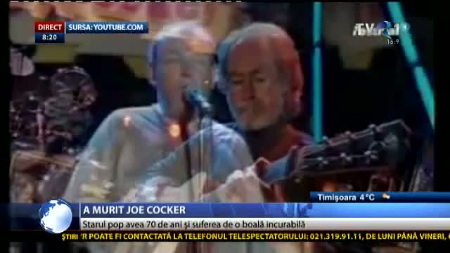 Joe Cocker a murit