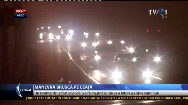 Accident pe timp de ceață