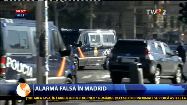 Alarmă falsă la Madrid