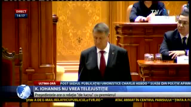 Iohannis nu vrea telejustiție