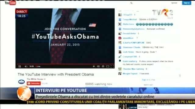 Obama a dat interviuri pe Youtube
