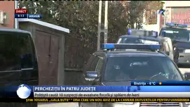 Percheziții in 4 judete