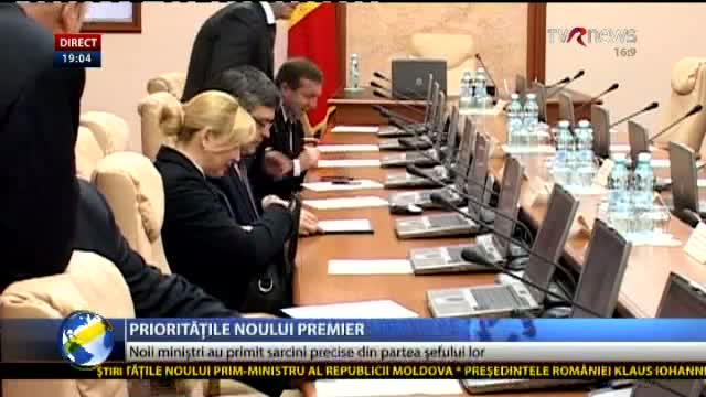 Telejurnal Moldova - Prioritățile noului premier