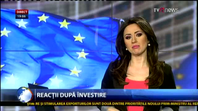 Telejurnal Moldova - Reacții după învestire