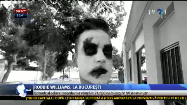 Robbie Williams, la București