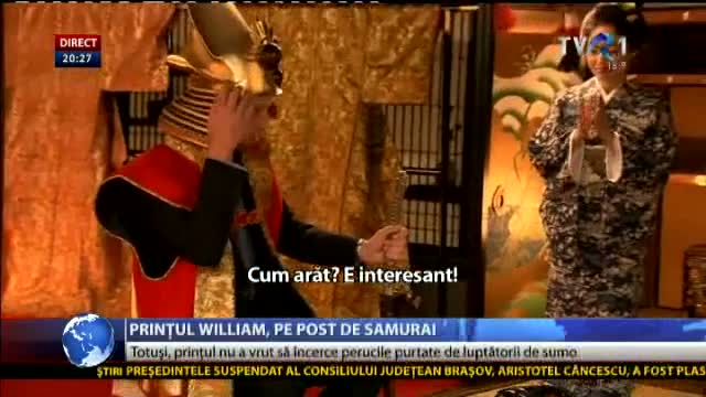 Prințul William, pe post de samurai, în Japonia