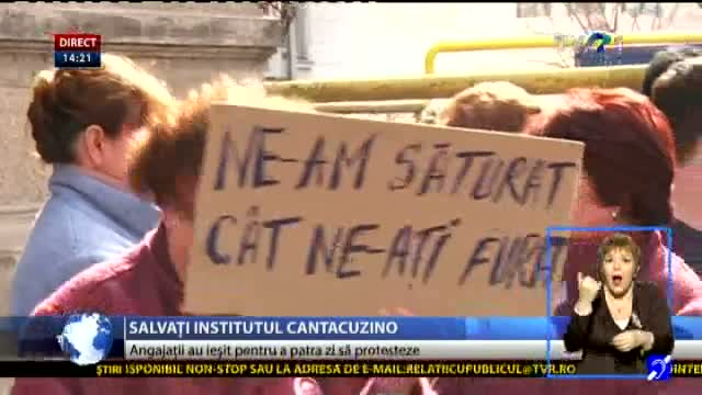Proteste la Institutul Cantacuzino