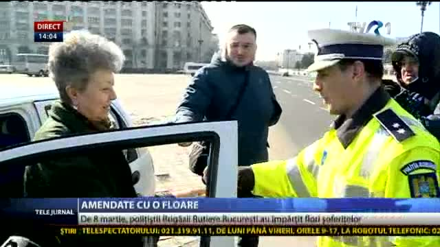 Șoferițe amendate cu o floare