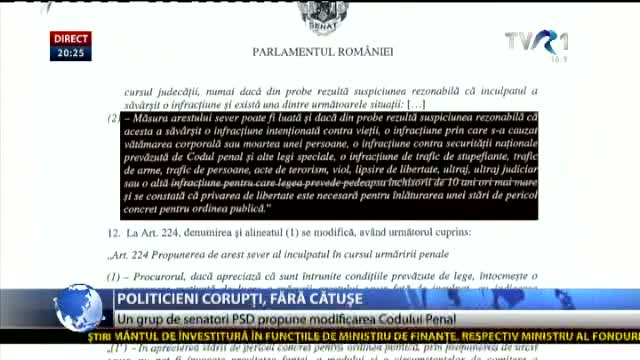 Politicieni corupți, fără cătușe