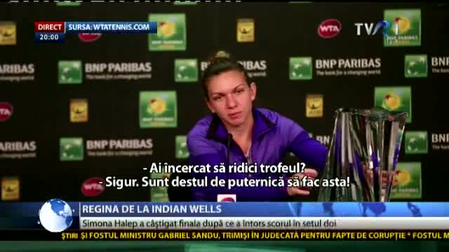 Halep - Regina de la Indian Wells