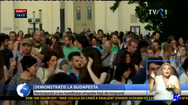 Demonstrație la Budapesta
