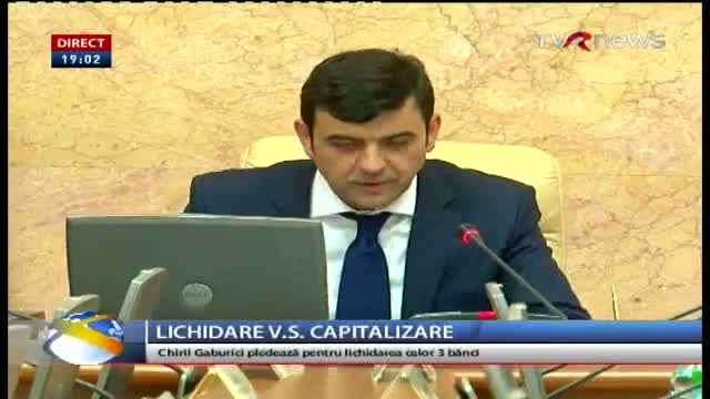 Telejurnal Moldova - Lichidare vs capitalizare
