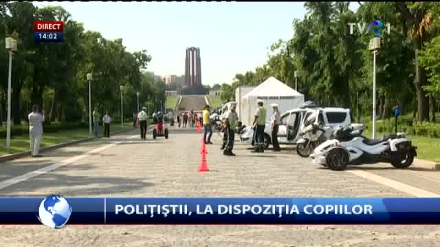 Polițiștii, la dispoziția copiilor