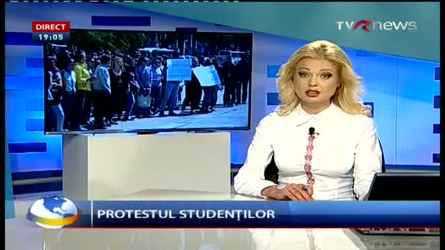 Telejurnal Moldova - Protestul studenților