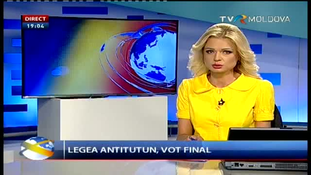 Telejurnal Moldova - Legea anti-tutun, vot final