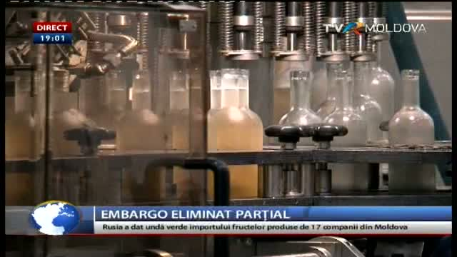 TELEJURNAL MOLDOVA / Embargo eliminat parțial