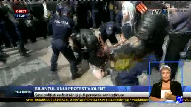 Bilanțul unui protest violent