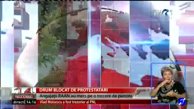 Drum blocat de protestari