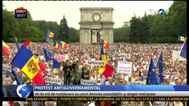 Protest antiguvernamental la Chișinău
