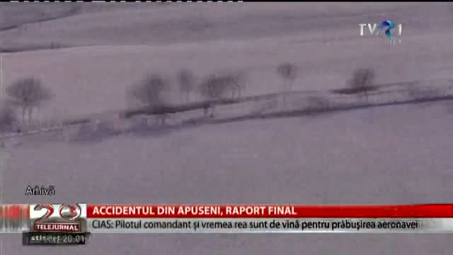 Accidentul de avion din Apuseni, raport final