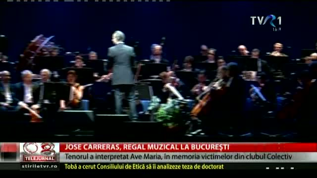 Jose Carreras - regal muzical la București