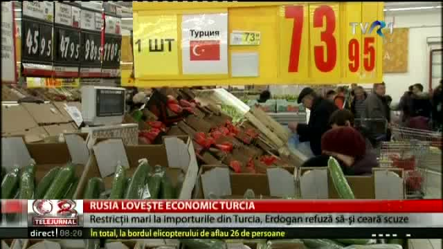 Rusia lovește economic Turcia