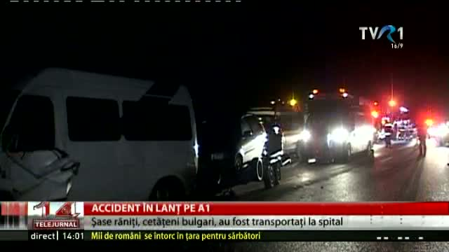 Accident în lanț pe A1