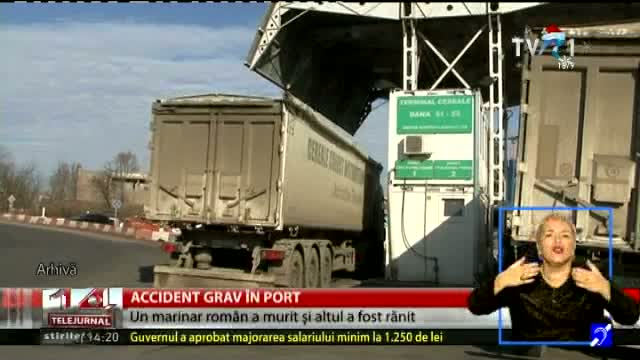 Accident grav în port