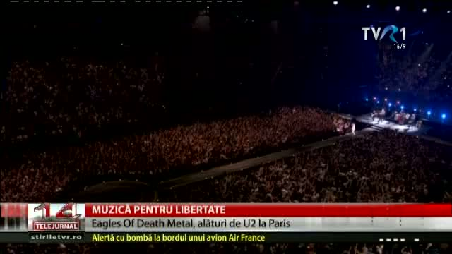 U2 și Eagles pf Death Metal au cântat la Paris
