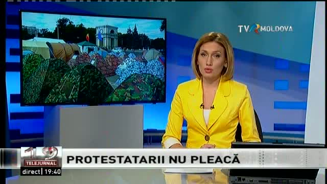 Telejurnal Moldova - Protestatarii nu pleacă