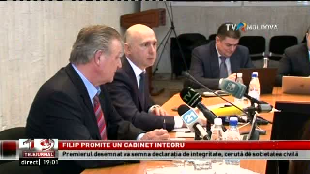 TELEJURNAL MOLDOVA / Filip promite un cabinet integru