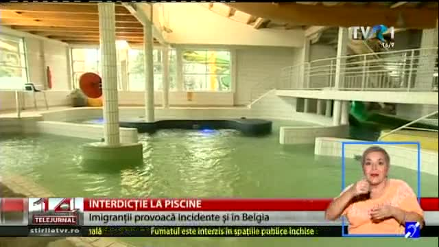 Interdicție la piscine