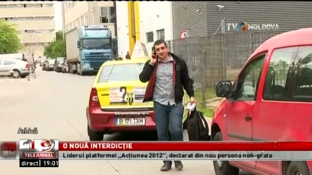 TELEJURNAL MOLDOVA / George Simion, o nouă interdicție