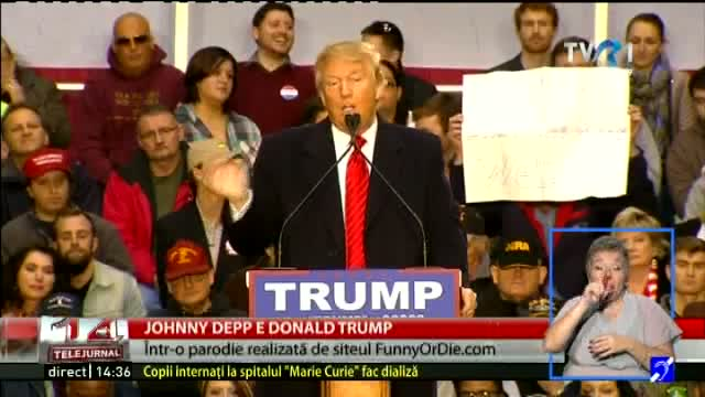 Johnny Depp este Donald Trump