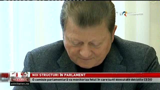 TELEJURNAL MOLDOVA / Noi structuri în Parlament