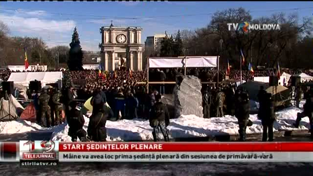 TELEJURNAL MOLDOVA / Start ședințelor plenare