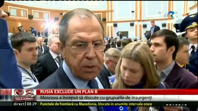 Rusia exclude un plan B