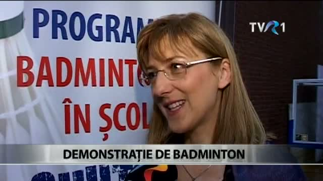 Demonstratie de badminton la Bucuresti