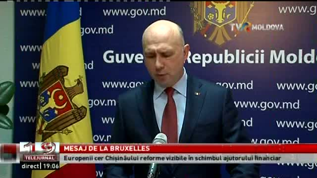 TELEJURNAL MOLDOVA / Mesaj de la Bruxelles